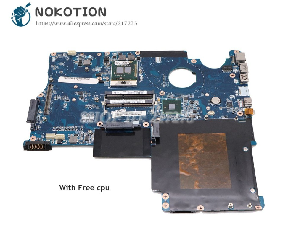 NOKOTION For Toshiba Satellite P500 P505 Laptop Motherboard HM55 DDR3 Free cpu A000052590 A000053140 DATZ1CMB8F0 Main Board a000053140 fit for toshiba qosmio x500 x505 p500 p505 laptop motherboard 100% fully tested