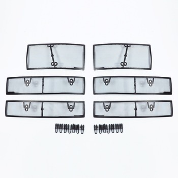 Wtfs Stainless Steel ABS Insect Grille Mesh Grill Inserts Insect Net Insect-Proof Net for Volkswagen Tiguan L 2017-2019 [QP1172]