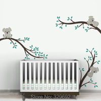 Large Size Koala Tree Branches DIY Wall Decals Wall Sticker Nursery Vinyls Baby Wall Stickers