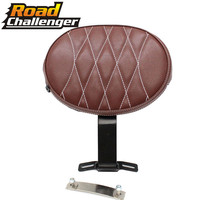 Motorcycle Leather Adjustable Plug In Driver Rider Seat Backrest Pad For 2007 2017 Harley Fatboy Heritage Softail