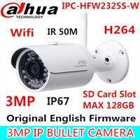Dahua IPC HFW2325S W 3MP IR50M IP67 Built In WIFI SD Card Slot Network Outdoor WIFI