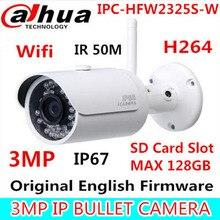 Dahua IPC-HFW2325S-W 3MP IR50M IP67 intégré WIFI SD fente pour Carte Réseau extérieure WIFI Caméra remplacer IPC-HFW1320S-W IP Caméra