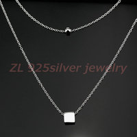 New Charm Design 925 Sterling Silver Multilayer Long Necklaces Pendant Statement Fashion Lady Jewelry Gift
