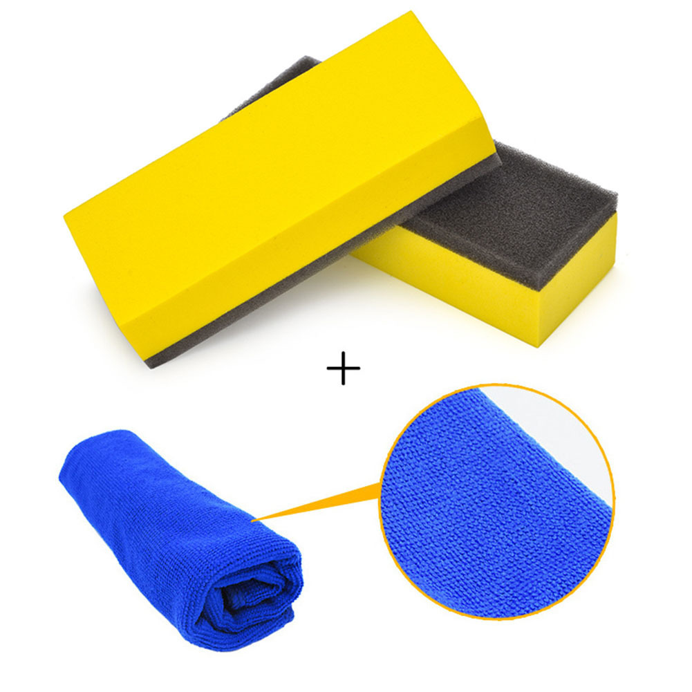 Sponge and Towel Set For Car Plating Crystal Glass Coating Tool Car Cleaning and Plating tools