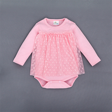 Newborn Baby Clothing Long Sleeve Cotton baby Rompers Girls Lace Clothes infantil costumes