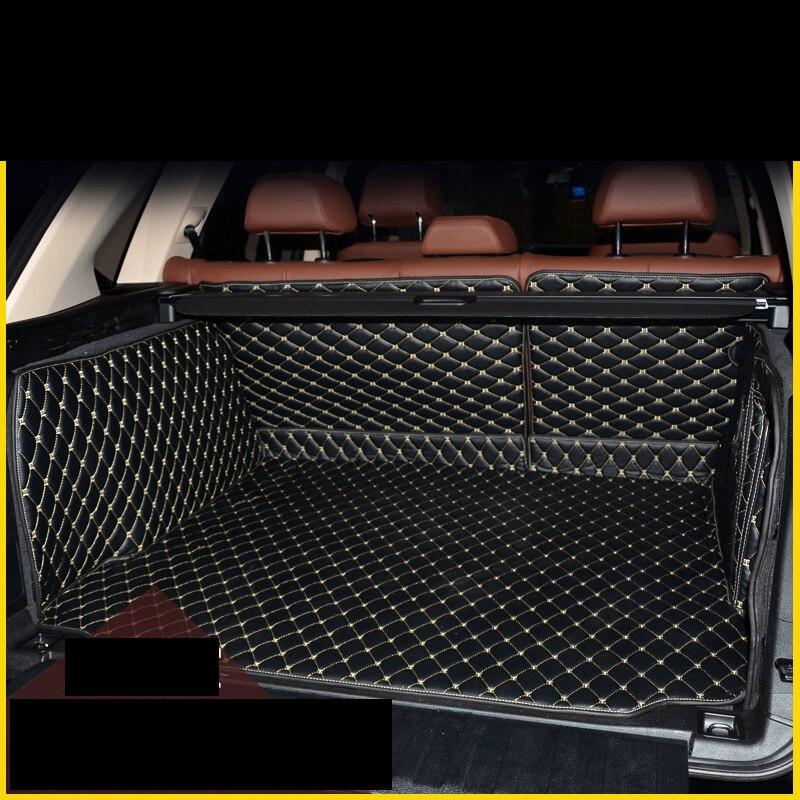 Lsrtw2017 en cuir de fibre de tapis de coffre de voiture pour bmw x5 2007 2008 2009 2010 2011 2012 2013 2014 2015 2016 2017 2018 e70 f15