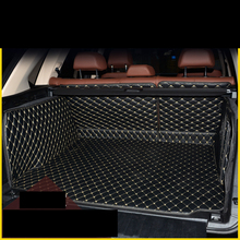 Lsrtw2017 волокна кожи багажник автомобиля коврик для bmw x5 2007 2008 2009 2010 2011 2012 2013 2014 2015 2016 2017 2018 e70 f15