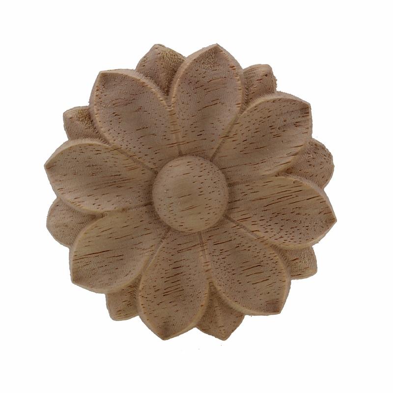 Vzlx Flower Wood Carving Natural