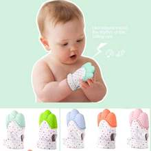 Baby Silicone Teething Beads Natural Thumb Sound Teether Glove Chewable Nursing Silicone Beads Teethers Dropshipping(China)
