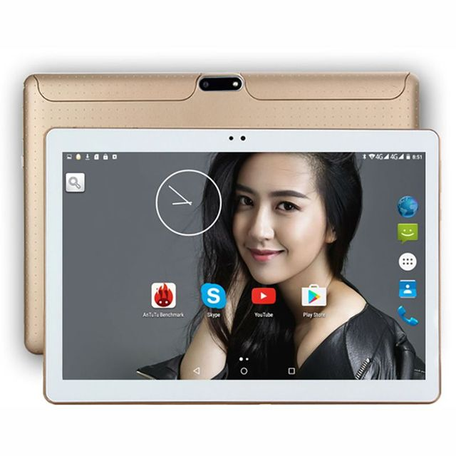 "Newkita 10 ""4G LTE MTK8752 Octa Core Tablet PC Android 5.1 4 GB/32 GB 2MP + 5MP 1280*800 pxl Dual SIM Bluetooth GPS Phablet 10.1"
