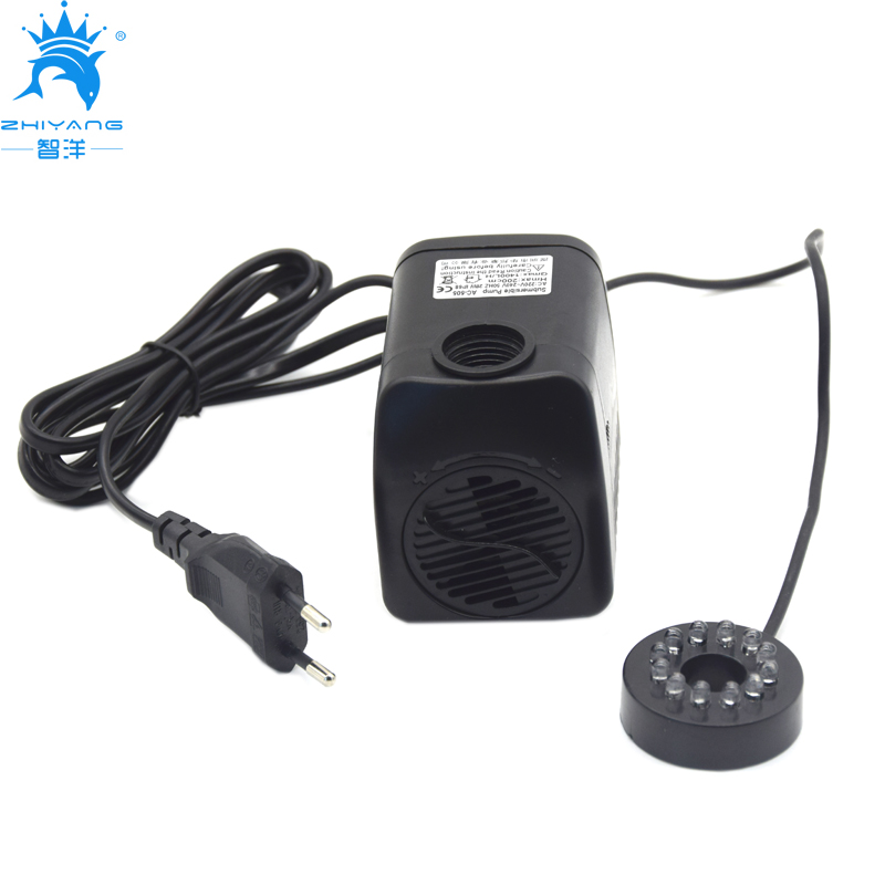AC 220V 240V Submersible Water Pump 1400L/H 28W with 12 LED lights Aquarium water pump for fish tank fountain pond pump