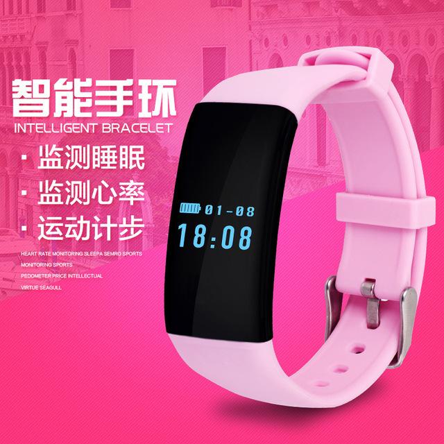D21 pulsera inteligente en tiempo real monitoreo de la frecuencia cardíaca Bluetooth 4.0 Gimnasio Actividad Rastreador Pulsera Inalámbrica Del Ritmo Cardíaco Deporte Banda