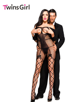 Hot 2016 New Sexy Women Sleepwear Hot Sexy Open Cup Fishnet Off Shoulder Bodystocking With Bow