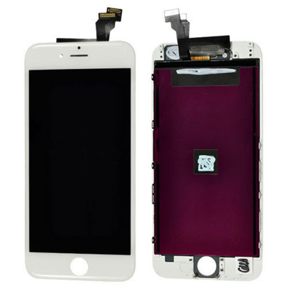 For Apple iPhone 6 Black White LCD Display +Touch Screen Digitizer Assembly replacement parts for iphone 6 4.7 black white lcd touch screen lens display digitizer assembly replacement for iphone 4 4g gsm cdma