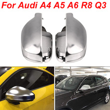 For Audi a4 a3 2014 207 a6 c7 avant Q5 2018 Matt Chrome Mirror Cover Rearview Side Mirror Cap S Line B8.5 B8K car accessories lexucar matt chrome car rearview silver side mirror covers cap s line b8 5 b 8 5 for audi a3 a4 a5 2011 2016
