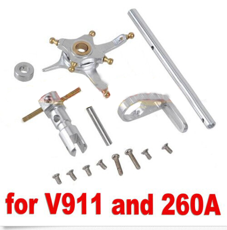 1Set solo pro 260a Helicopter Metal Spindle Group Main Axle Set Upgraded Parts Common With Wltoys V911 For RC Single Helicopter v966 004 main blade clip parts for wltoys v966 v977 rc helicopter