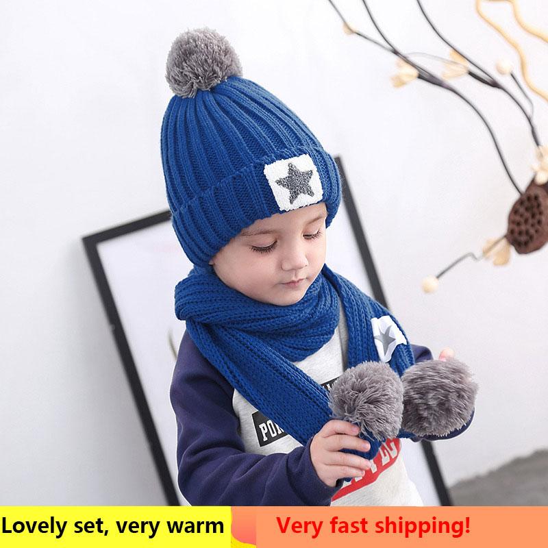 Kids Hat And Scarf Set For Children Winter Set For Children Scarf Hat Set Girls Boys Scarfs And Gloves