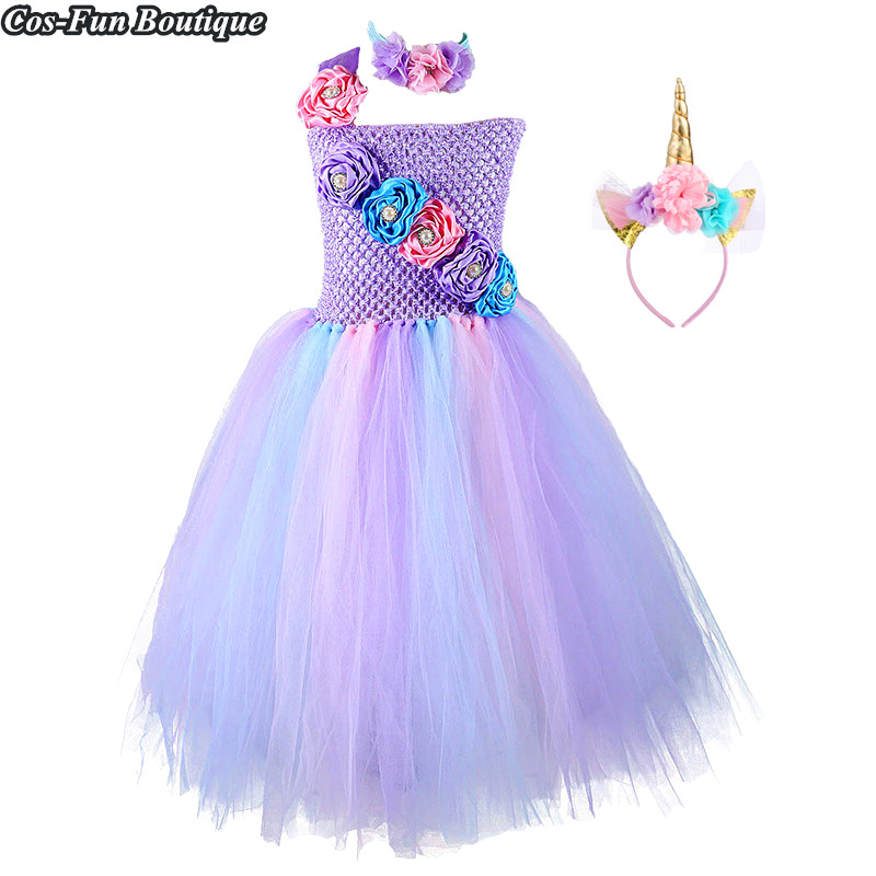 Elegant Flower Kids Girls Dress Summer Quality Handmade Wedding Princess Dress Girls Clothes Formal Dress Vestido Infantil W008