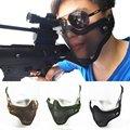 Защитная тактическая страйкбольная Военная маска  металлическая сетка  камуфляжная  для улицы  3 вида цветов