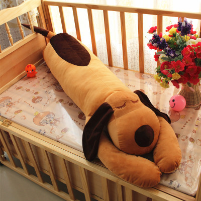 stuffed animal 120cm brown  lying sleeping dog plush toy soft throw pillow w2302 stuffed animal 44 cm plush standing cow toy simulation dairy cattle doll great gift w501
