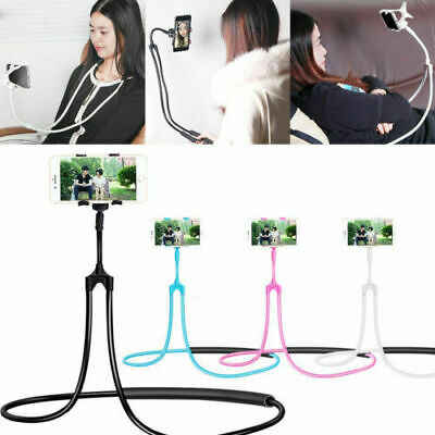 Smartphone Lazy Neck Mount Bed Car Selfie Bracket Hanging Phone Holder Portable Stands For iPhone For Huawei For Samsung