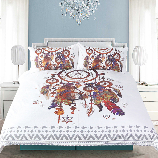 Hipster Watercolor Dreamcatcher Bedding Set