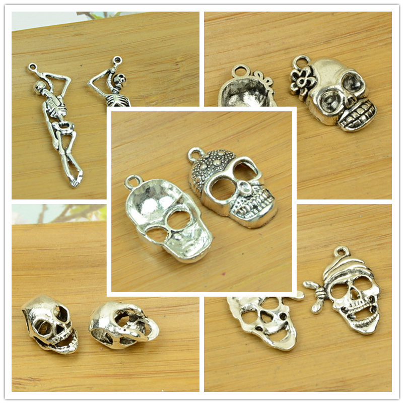 Cráneo Esqueleto Dama Lolita Gemelos Cufflinks Halloween