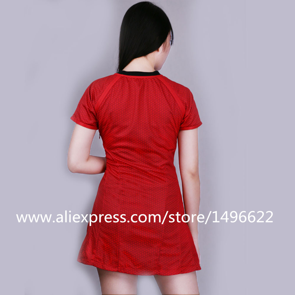 Cosplay Star Trek Into Darkness Star Fleet Uhura Costume Dress Cosplay  Red Halloween Uniform (2)