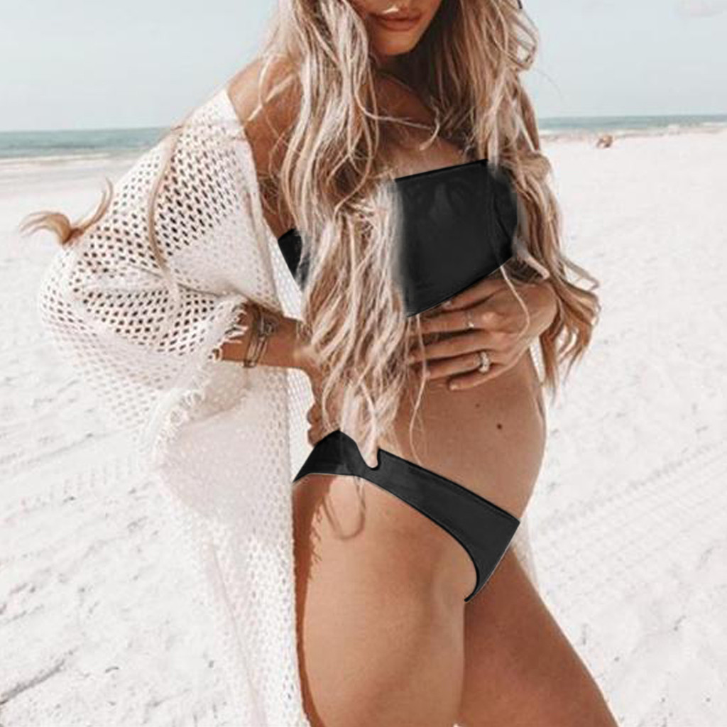 Muqgew New Fashion Maternity Tankinis Women Summer Nursing Solid Swimsuit Beachwear Pregnant 2019 Commodities Are Available Without Restriction Pants