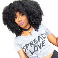 Afro Kinky Curly Hair Brazilian Hair Weave Bundles 100% Human Hair Extensions Remy Natural Color 1 PC Only 10 26inches