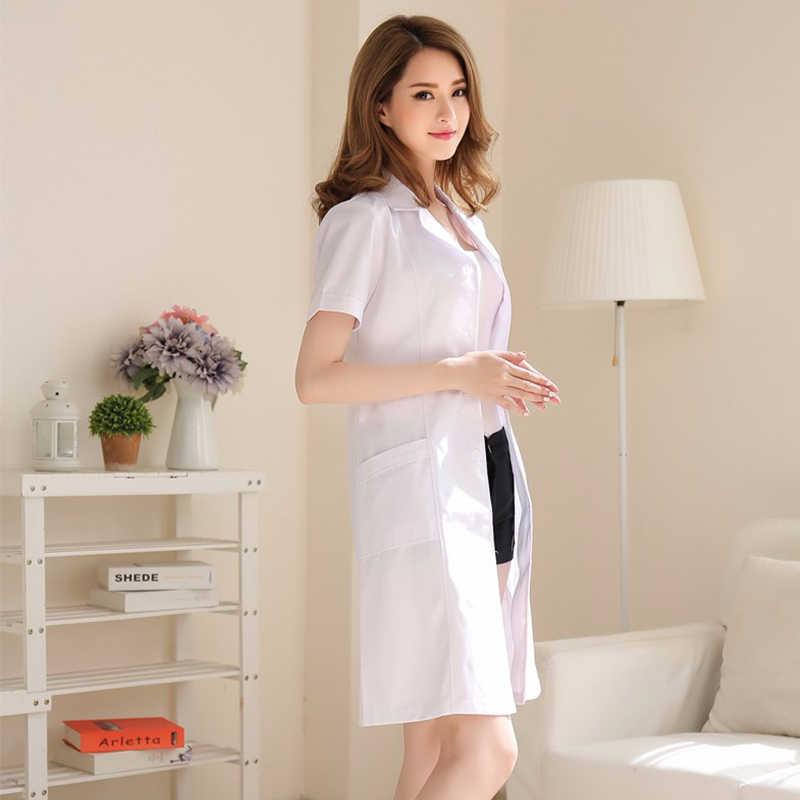 白衣長袖医師ドレス女医白衣半袖男性スリムナーススーツ服制服スパ制服