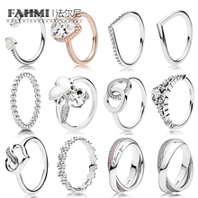 100% Sterling Silver Fashion Shining Zircon Ring (Variety Of Styles To Choose) Couple Ring Gift Jewelry Factory Outlets