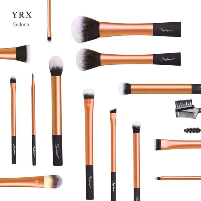 Sedona 16PCS Face Makeup Brush Set, Synthetic Hair Plastic Handle Makeup Brush set 2