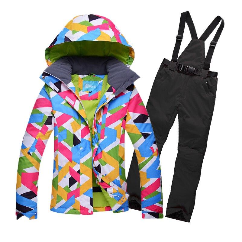 Ski Suit Snowboard Women Ski Jacket and Pant Winter Clothes Wear Female Sports SuitsSki Suit Snowboard Women Ski Jacket and Pant Winter Clothes Wear Female Sports Suits