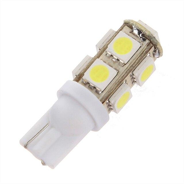 T10 194 168 W5W 9 светодиодный 5050 SMD Авто Клин Сторона хвост Автомобильные стояночные огни лампа 9 светодиодный оформление освещения 9SMD DC12V Лучшая цена