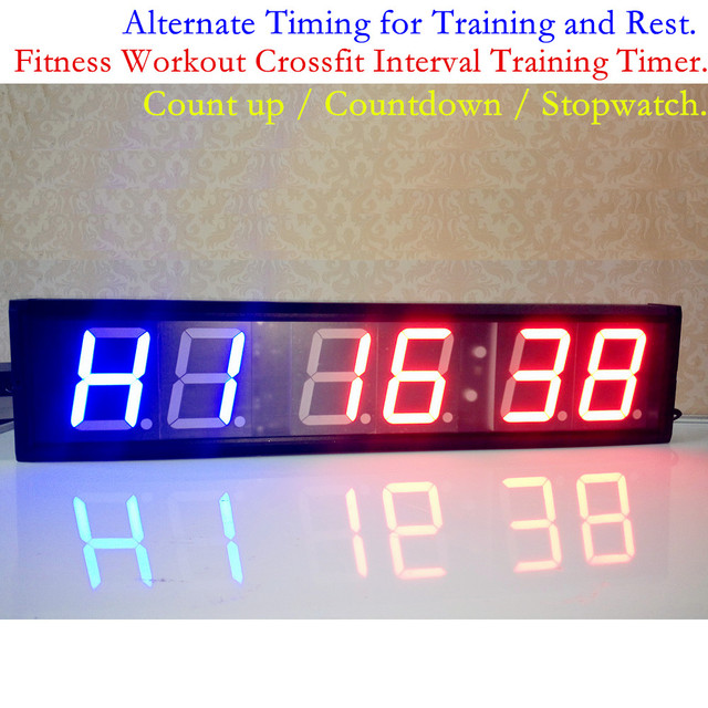 4'' Larger Digital Nixie Fitness CrossFit Interval Training Timer Gym Hiit Boxing Tabatha workouts Programmable LED Wall Clock