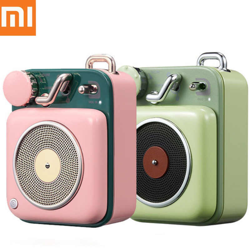 Asli Xiaomi Mijia Kucing Raja Atom Record Player B612 Bluetooth Cerdas Elvis Audio Portable Seng Aluminium Speaker H30