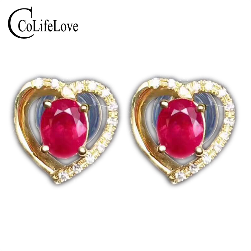 Classic heart silver stud earrings 4 mm * 5 mm natural blood red ruby sutd earrings solid 925 silver ruby gemstone earrings rhinestone heart shaped stud earrings page 4
