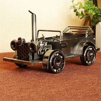 HAOCHU Vintage Diecast Metal Classic Open Cars Model Alloy Toys Kids Gifts Handwork Antique Crafts Collection Home Decor