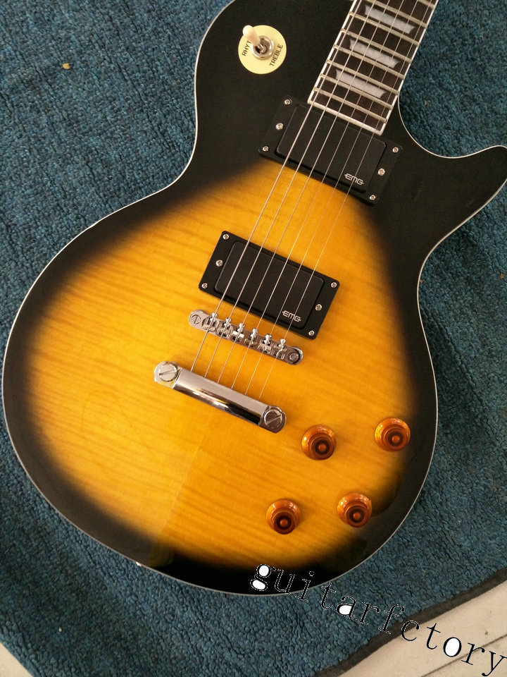 China Custom guitar factory Newest Custom burst color les Chinese paul lp standard electric guitar Free shipping!