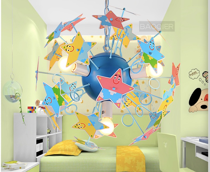 Free shipping newly mixed colored pendant lights for kids for Hanging lights for kids room
