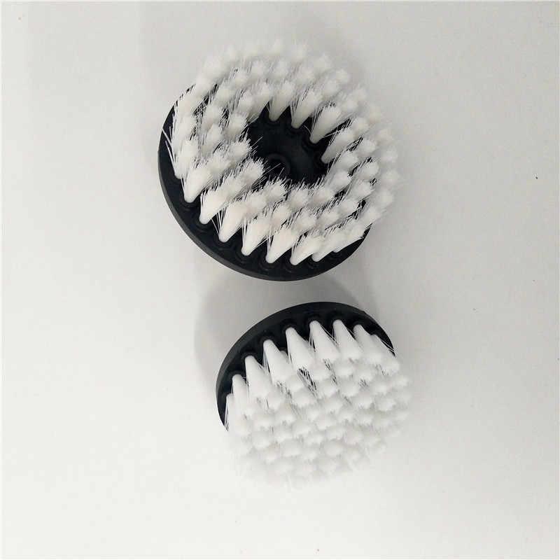 2 قطعة الحفر فرشاة الطاقة فرك الحفر فرشاة نظيفة فرشاة تستخدم على الحفر الكهربائية للسجاد أريكة جلدية البلاستيك خشبية شحن مجاني