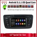 Quad Core 1024*600 Экран Android 5.1.1 Автомобильный Dvd-видео Плеер для VW Seat Ibiza 2009-2013 С Радио Bluetooth, WI-FI бесплатно доставка