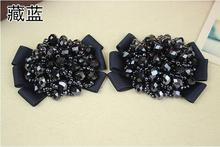 1Pair/set Rhinestone Crystal Shoe Clips Tone Buckle Wedding Bridal Party Bow Shoes Decorated