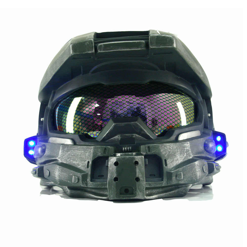 Halo 4 Master Chief Helmet Game Cosplay Props Cool Full Head Helmet Mask Halloween Christmas Gift Party Helmets With Led Light