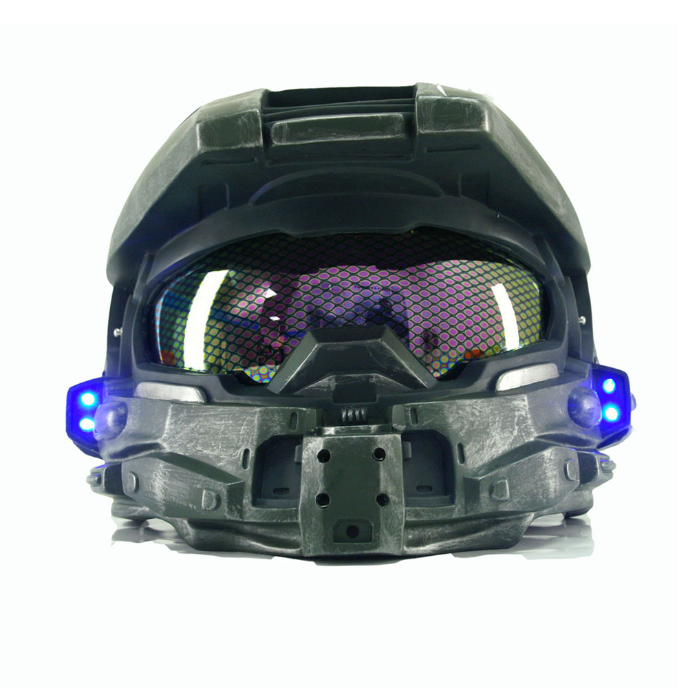 Halo 4 Master Chief Helmet Game Cosplay Props Cool Full Head Helmet Mask Halloween Christmas Gift Party Helmets With LED Light image