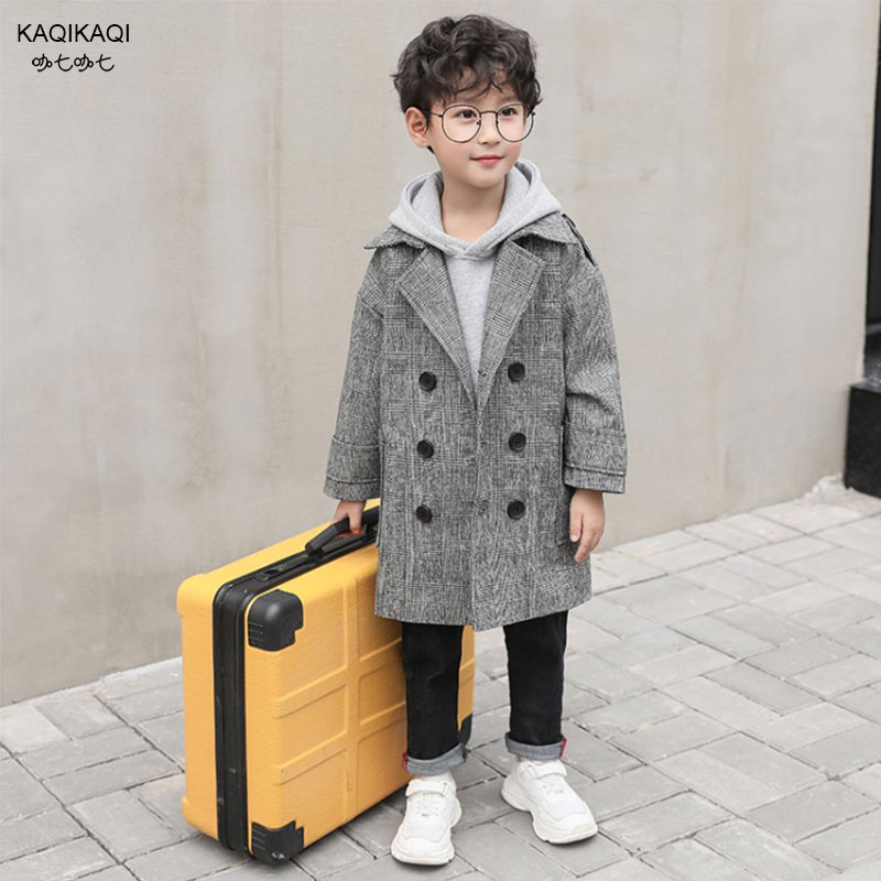 2018New Fashion Boys   Trench   Coat Spring Autumn Outerwear Children's Clothing Double Breasted Kids Windbreaker
