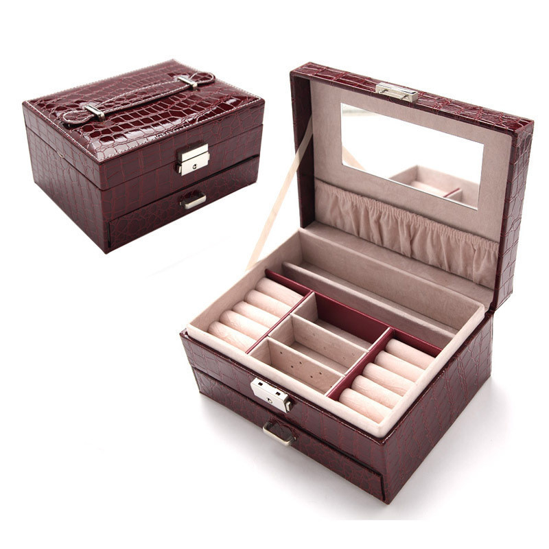 2018 Fashion Jewelry Accessories Display Leather Box & Packaging For Earrings Bracelets/Necklace/Bangle/Rings As Gift Storage