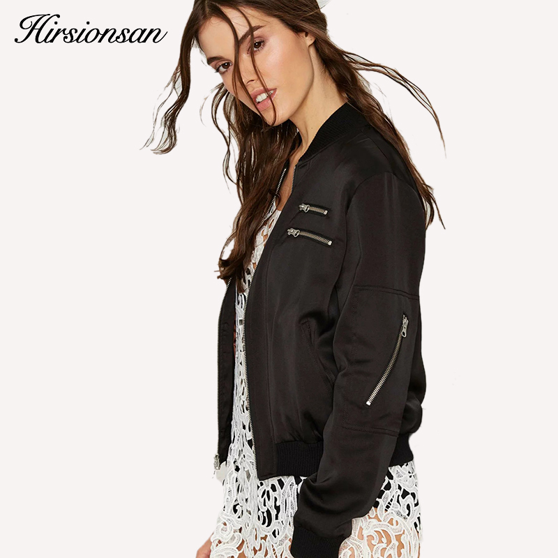 Mujeres Bomber Jacket Coats 2017 Moda de Primavera y Otoño Ladies Zipper Bomber