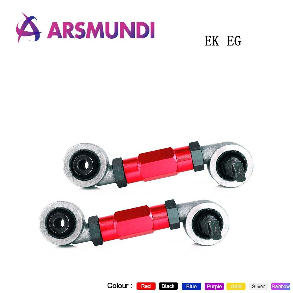 PURPLE Adjustable FRONT UPPER A-ARM+REAR CAMBER KIT for Honda Del Sol 1992-1997